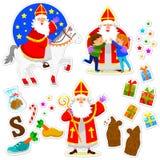 Colección de Sinterklaas Imagen de archivo