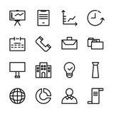 Colección de sistema del icono del negocio conveniente para comercializar, las finanzas, y el otro negocio relacionado ilustración del vector