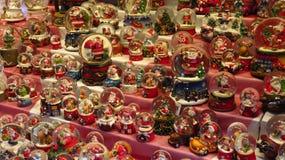 Colección de Snowglobe de la Navidad Foto de archivo
