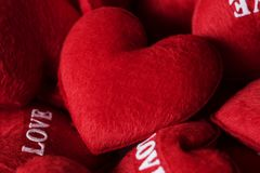 Colección de tarjeta del día de San Valentín de los corazones del amor Foto de archivo libre de regalías