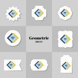Colección de tarjetas de la forma del Rhombus y del cuadrado Fotografía de archivo