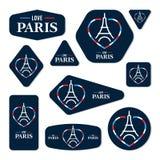 Colección de tarjetas de la torre Eiffel Foto de archivo libre de regalías