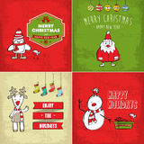 Colección de tarjetas de Navidad Fotografía de archivo libre de regalías