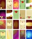 Colección de tarjetas de visita Foto de archivo libre de regalías