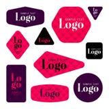 Colección de tarjetas del logotipo y de texto de la muestra Foto de archivo libre de regalías