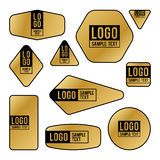 Colección de tarjetas del logotipo y de texto de la muestra stock de ilustración