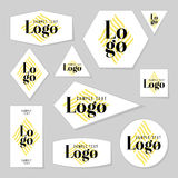 Colección de tarjetas del logotipo y de texto de la muestra Fotografía de archivo libre de regalías