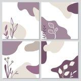 Colección de tarjetas florales simples ilustración del vector