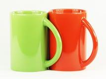Colección de tazas coloridas fotografía de archivo