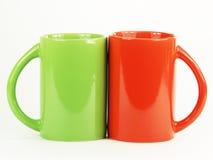 Colección de tazas coloridas fotos de archivo libres de regalías