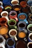 Colección de tazas de café Imágenes de archivo libres de regalías