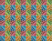 Colección de tejas de los modelos en diversos colores imagen de archivo