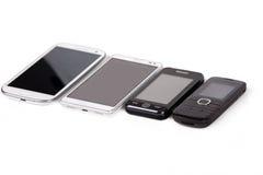 Colección de teléfonos celulares Imagenes de archivo