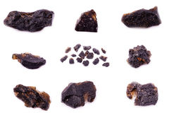 Colección de Textit mineral de piedra Imagenes de archivo
