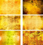 Colección de texturas del fondo del grunge Stock de ilustración