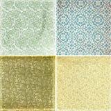 Colección de texturas del modelo del papel pintado de la vendimia Fotografía de archivo