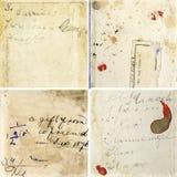Colección de texturas del papel del grunge stock de ilustración