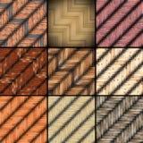 Colección de texturas montadas del piso fotografía de archivo libre de regalías