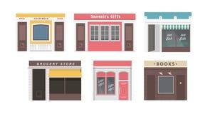 Colección de tiendas stock de ilustración