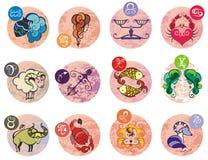 Colección de todas las muestras del zodiaco Ejemplo del vector de las muestras del zodiaco libre illustration