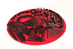 Colección de tornillos de madera Imagen de archivo