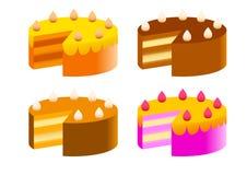 Colección de tortas stock de ilustración