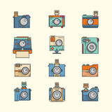 Colección de Toy Camera Vector Imagen de archivo