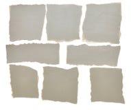 Colección de trozos de papel rasgados grises Imagen de archivo libre de regalías