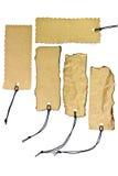 Colección de varias escrituras de la etiqueta del precio o de direccionamiento Fotos de archivo