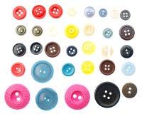 Colección de vario botón de costura imágenes de archivo libres de regalías