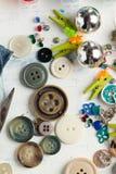 Colección de varios botones y contactos imagen de archivo libre de regalías