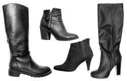 Colección de varios tipos de zapatos femeninos Fotografía de archivo