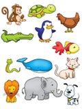 Colección de vector animal Imágenes de archivo libres de regalías