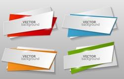 Colección de vector de la plantilla de las banderas de la papiroflexia ilustración del vector