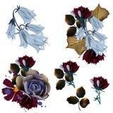 Colección de vector floral en estilo realista libre illustration