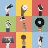 Colección de vectores de la tecnología aislada stock de ilustración