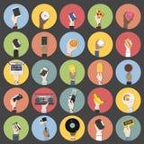 Colección de vectores de la tecnología y de la comida stock de ilustración