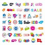 Colección de venta de los logotipos del vector Fotografía de archivo