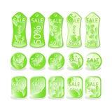 Colección de venta del verde del vector Foto de archivo libre de regalías