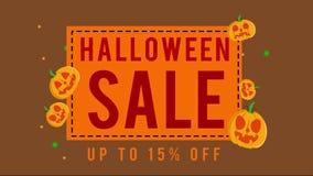 Colección de venta de Halloween hasta la animación 15 ilustración del vector