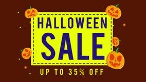 Colección de venta de Halloween hasta la animación 35 stock de ilustración