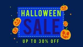 Colección de venta de Halloween hasta la animación 30 stock de ilustración