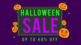 Colección de venta de Halloween hasta la animación 40 ilustración del vector