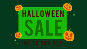 Colección de venta de Halloween hasta la animación 50 ilustración del vector