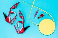 Colección de verano de accesorios femeninos Foto de archivo
