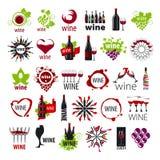 Colección de vino de los logotipos del vector Imágenes de archivo libres de regalías