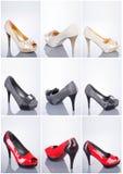 Colección de zapatos de la mujer Imagenes de archivo