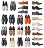 Colección de zapatos de los hombres Foto de archivo libre de regalías