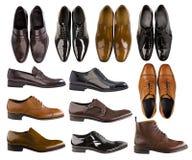Colección de zapatos de los hombres Imagen de archivo libre de regalías