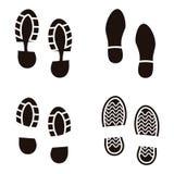 Colección de zapatos de los lenguados de una impresión Ilustración del vector Imágenes de archivo libres de regalías
